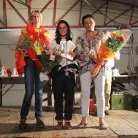 Podium féminin Cindy Gudet (ASA ESCA) Championne